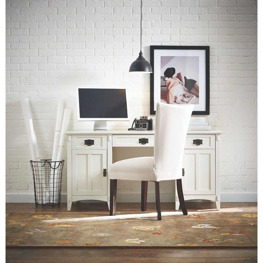 Home Decorators Collection Artisan White Executive Desk