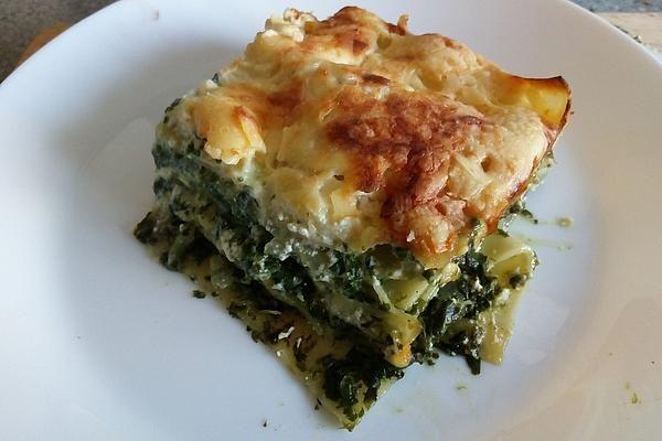 Pinaatti Feta Lasagne