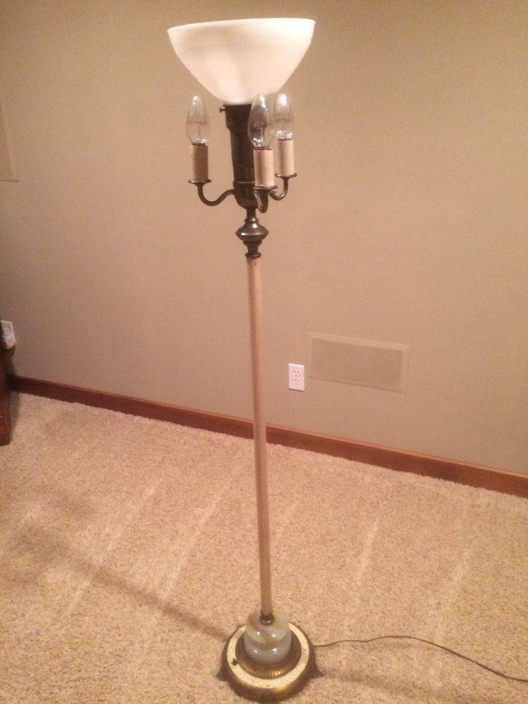 Vintage Floor Lamp 5 Light 3 Way Torchere W Lighted Base Works Great Very Nice Vintage Floor Lamp Lamp Floor Lamp