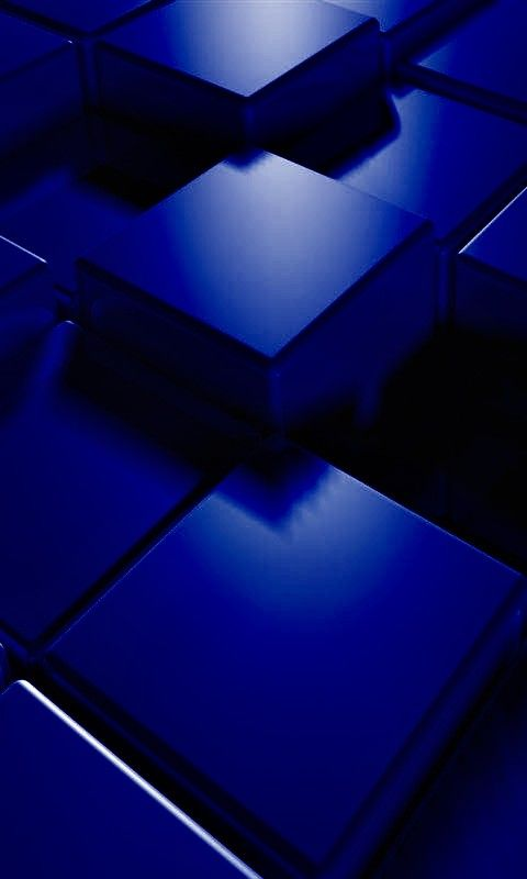 480x800 Hd 3D Blue Cubes Mobile Phone Wallpapers Best Iphone Royal Marina