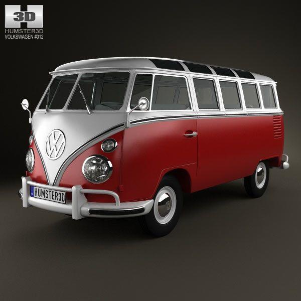 Turbo Microbus: Volkswagen Transporter T1 1950 3d Model From Humster3d.com