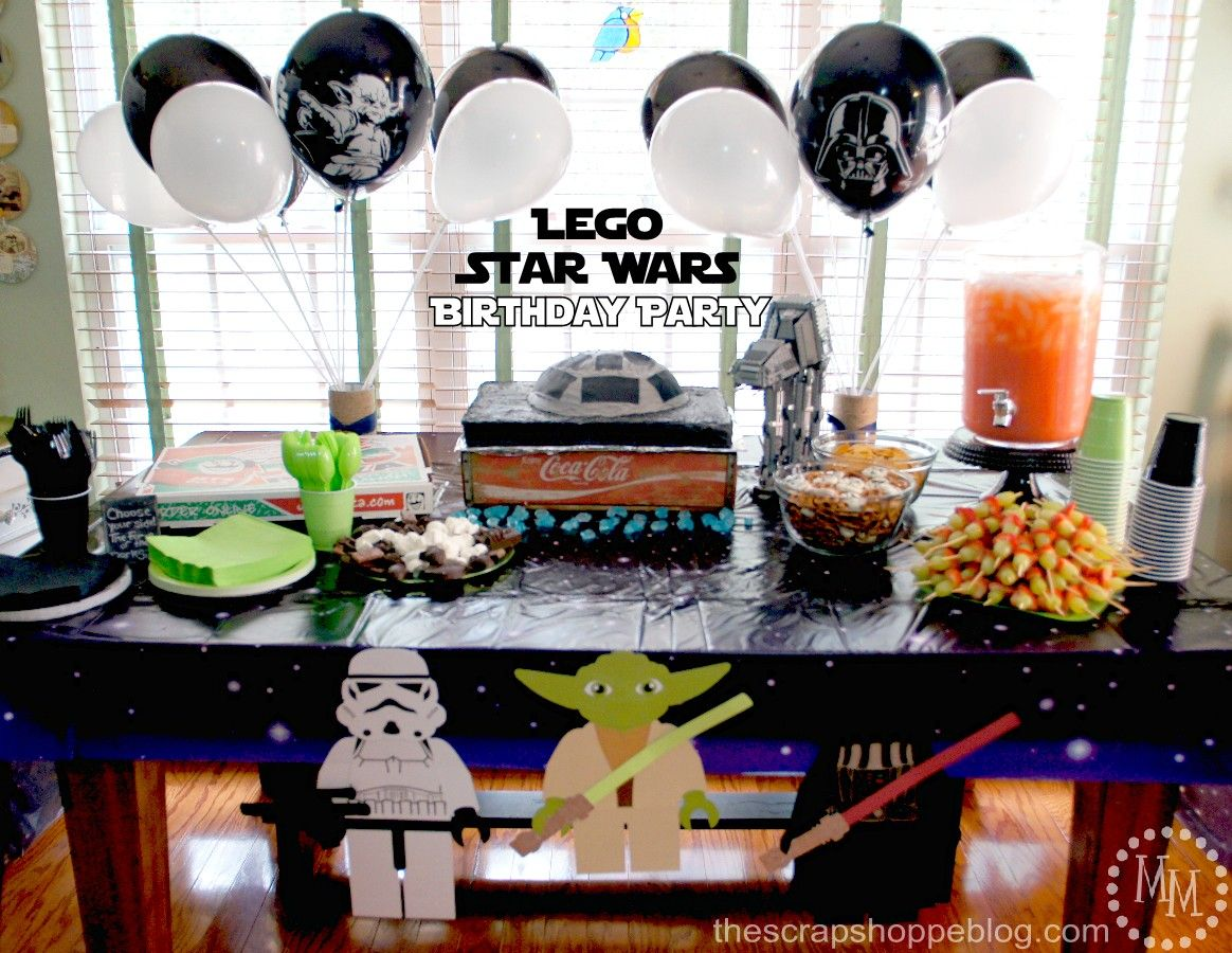 LEGO Star Wars Birthday Party - The Scrap Shoppe | star wars party ...