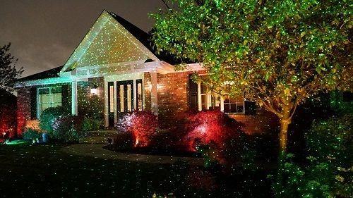 White Christmas Outdoor Projector Laser Light Star Shower Red Green Laser Christmas Lights Star Shower Christmas Lights Inside