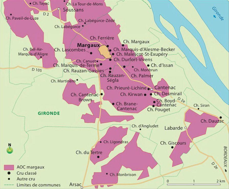 Carte Bordeaux Margaux.Margaux Appellation Et Guide Des Vins Hachette Vins Com