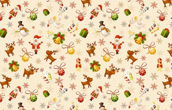 Фото обои Санта Клаус, Рождество, Новый год, текстура ...