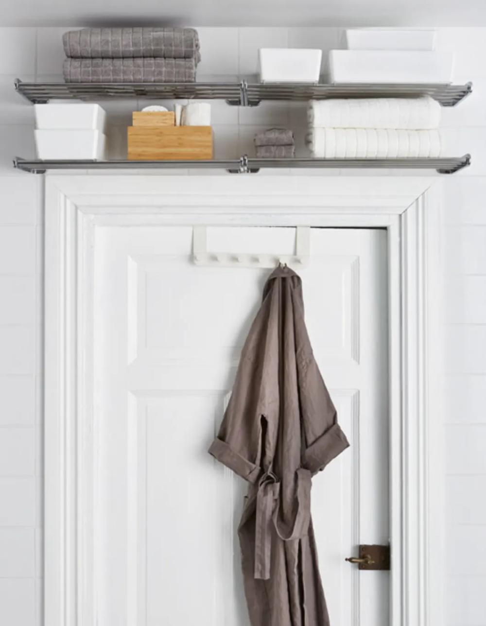 Small Bathroom Best Wall Shelves Storage Ideas Apartment Therapy Small Bathroom Storage Bathroom Towel Storage Diy Bathroom Design