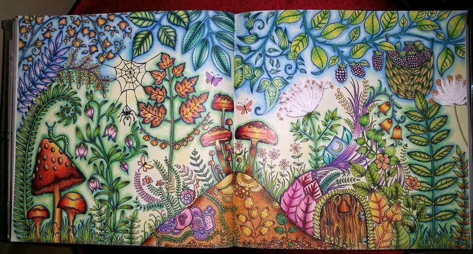 - Mushrooms Landscape Enchanted Forest Enchanted Forest Coloring Book, Enchanted  Forest Coloring, Johanna Basford Coloring Book