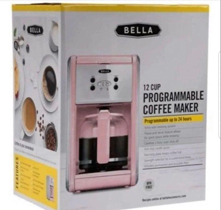 Bella pink 12 cup coffee maker on mercari in 2020 coffee