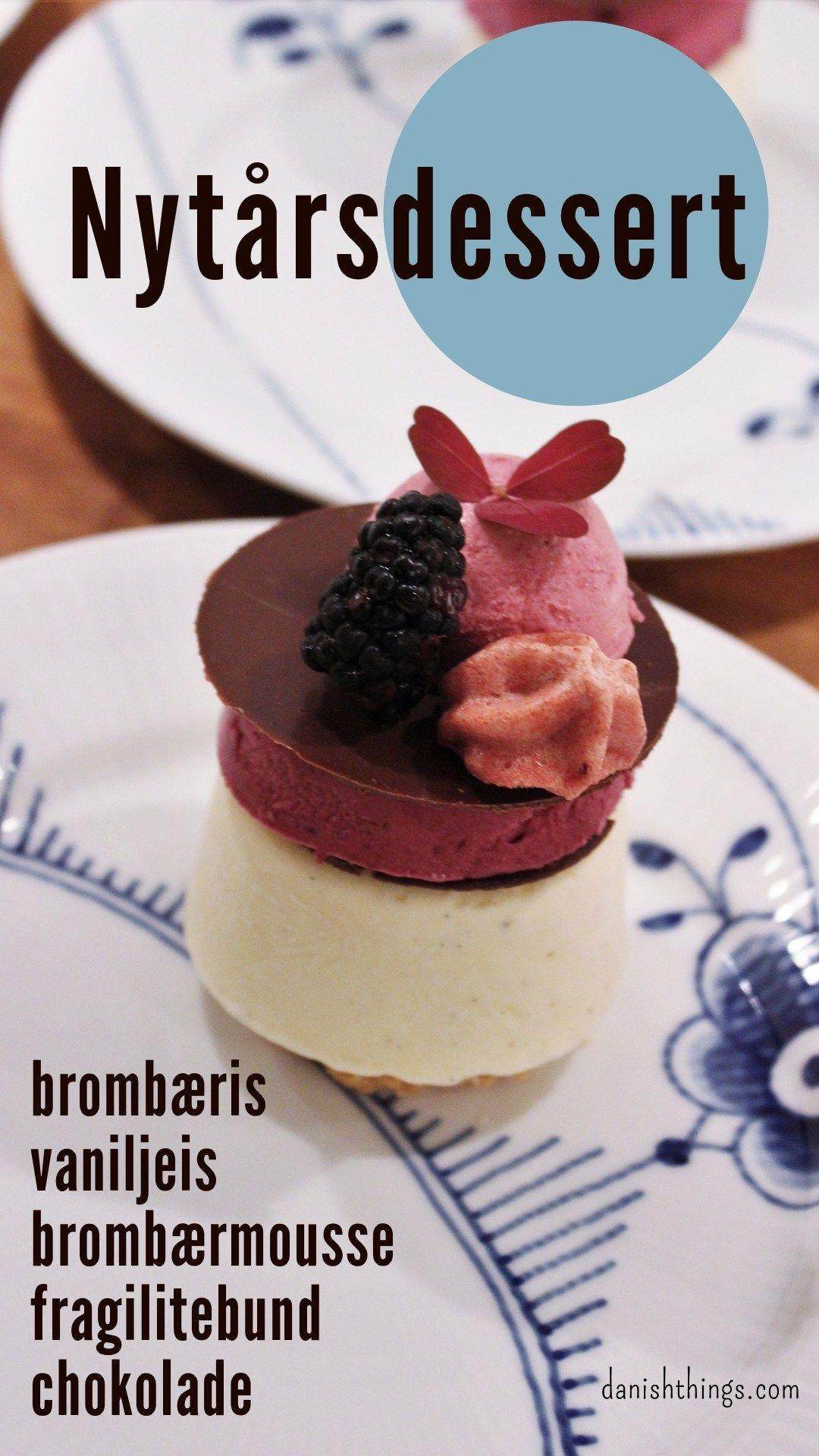 En festlig dessert med brombæris, vaniljeis, fragilite, chokolade - og lidt mere - Danish Things