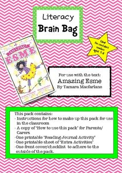 Amazing Esme - great book - and now with a Literacy Brain Bag to go with it!