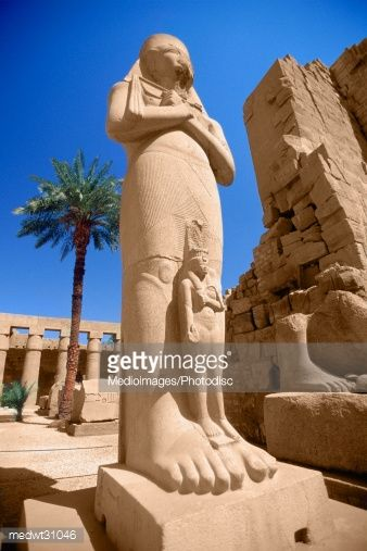 Colossal Statue Of Pinudjem At The Temple Of Karnak, Egypt