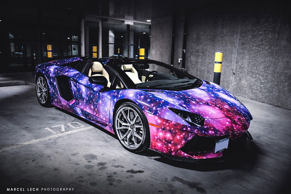 Canadian Lamborghini Owners Tend To Have Very Unique Car Wrapsu2026 Like This  Snakeskin Aventador, But This Lamborghini Aventador Roadster With A Galaxy  Wrap ...