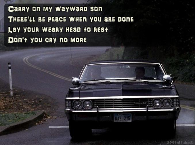 Carry on my wayward son... | Supernatural impala, Impala, Supernatural  wallpaper