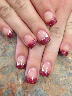 maroon  nail designs valentines valentines nail art