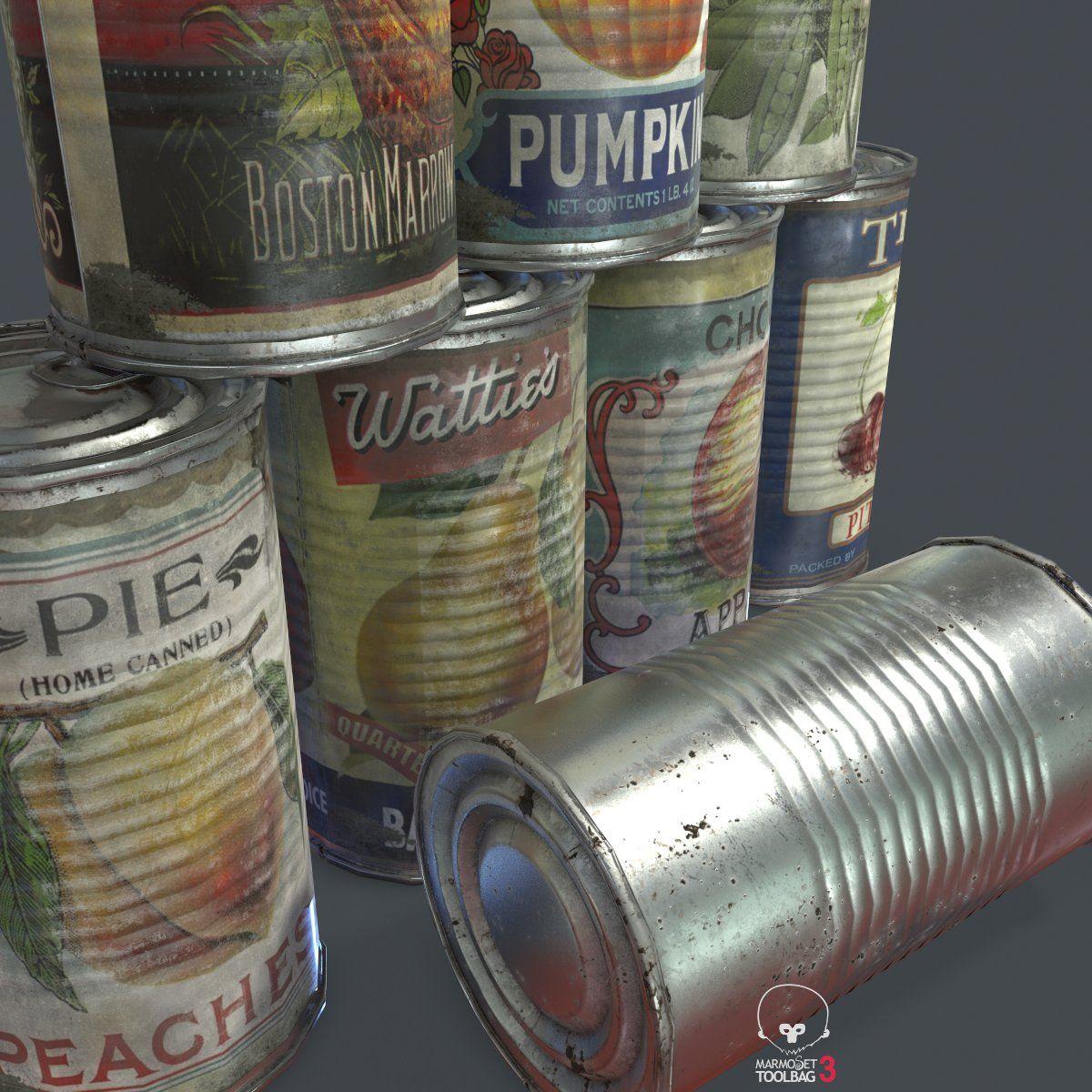 10 Old Tin Can With Food Tin Food Ad Canning Tin Can Tin