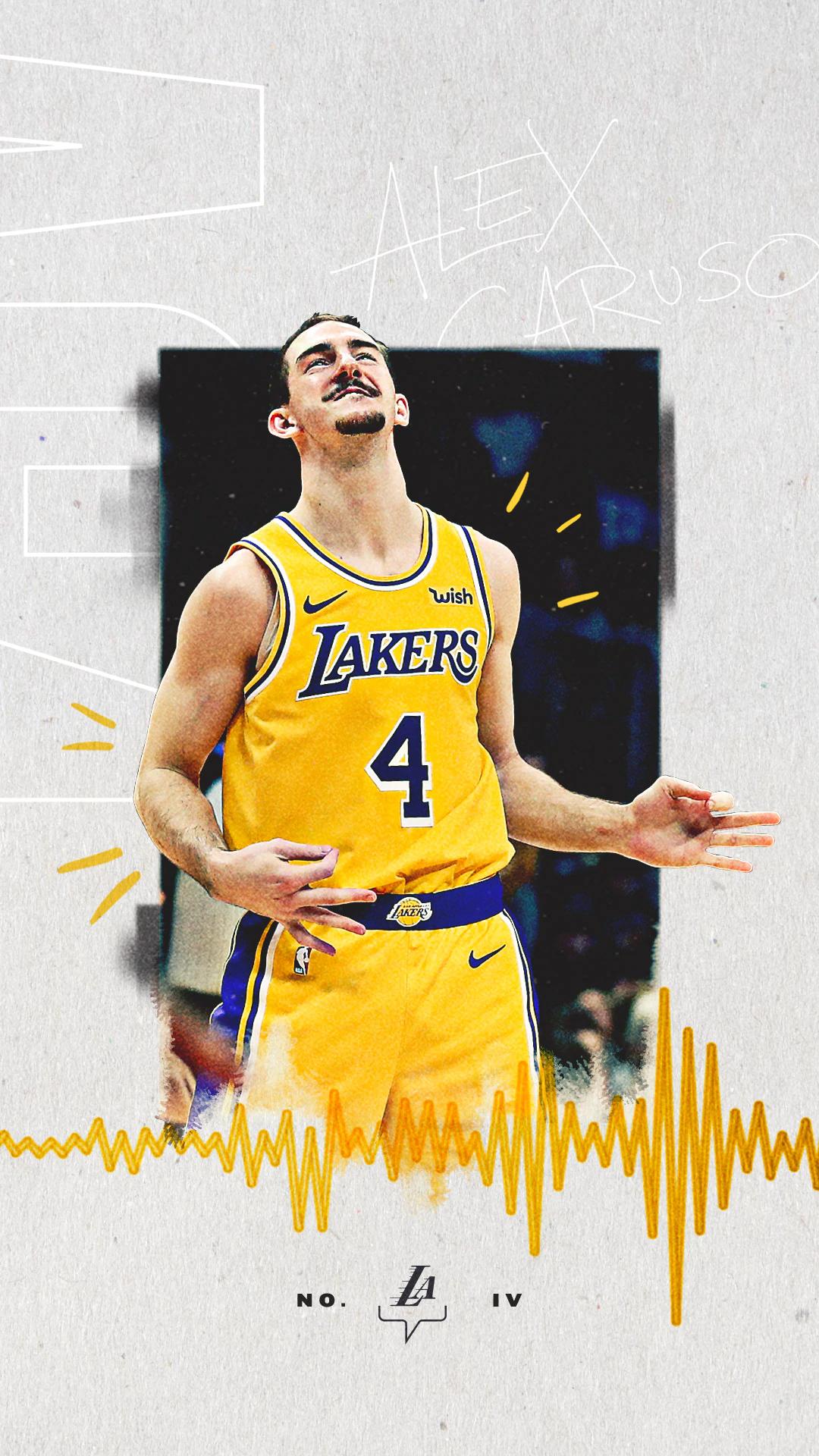 Alex Caruso Wallpaper In 2020 Lakers Wallpaper Sports Graphic Design Sports Design Inspiration