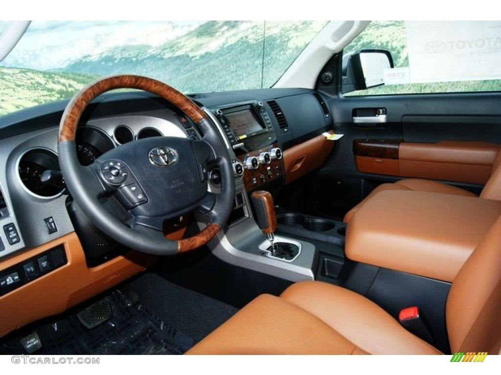 red rock interior 2012 toyota tundra platinum crewmax 4x4 photo