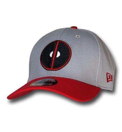 Deadpool Symbol Grey 39Thirty Cap