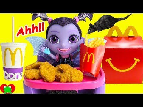 Vampirina Eats McDonald's Happy Meal with Toy Genie. Disney Jr Vampirina  gets hungry and no longer wants vampire food. What will Vampirina eat?