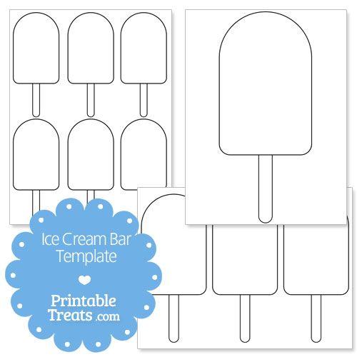 Printable Ice Cream Bar Shape Template | Felt Food and Toys ...