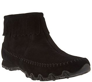 super quality popular brand official photos Skechers Relaxed Fit Suede Fringe Boots - Indian Summer ...