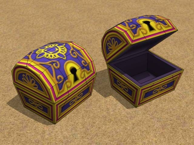 Papercraft Video Game Treasure Chests Paper Crafts Treasure Chest Paper Models