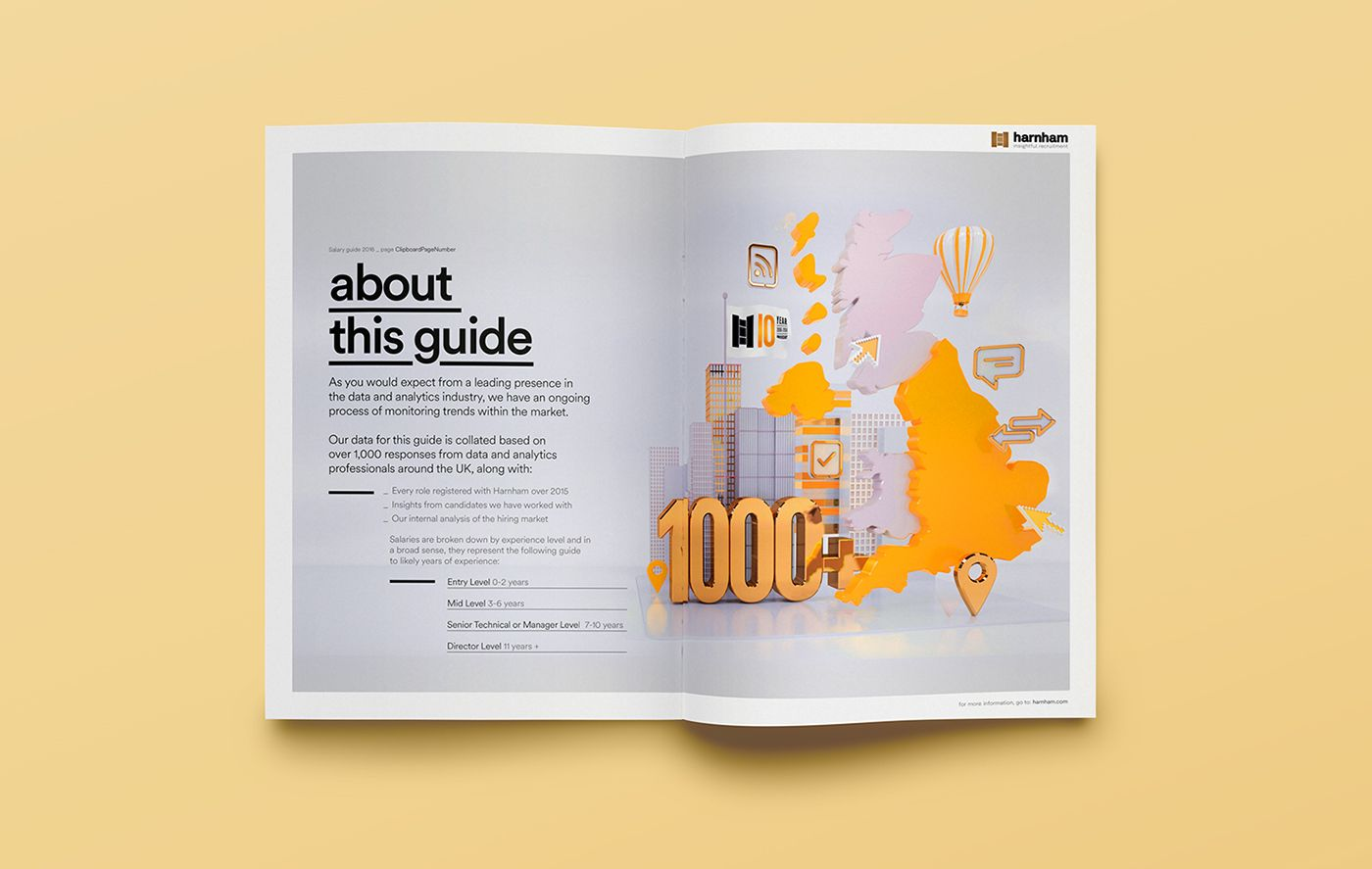 Harnham salary guide 16 on behance with images