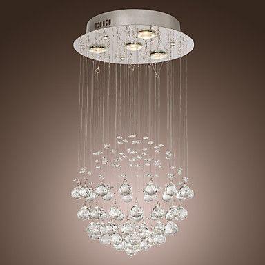 [XmasSale]Lustre de Cristal Chandelier K9 com 4 luzes em formato de globo - BRL R$ 357,57