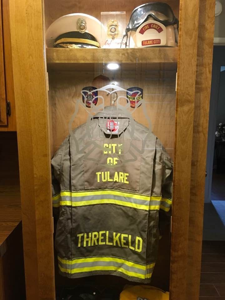 Fire Fighter Locker Shadow Box Firefighter Decor Shadow