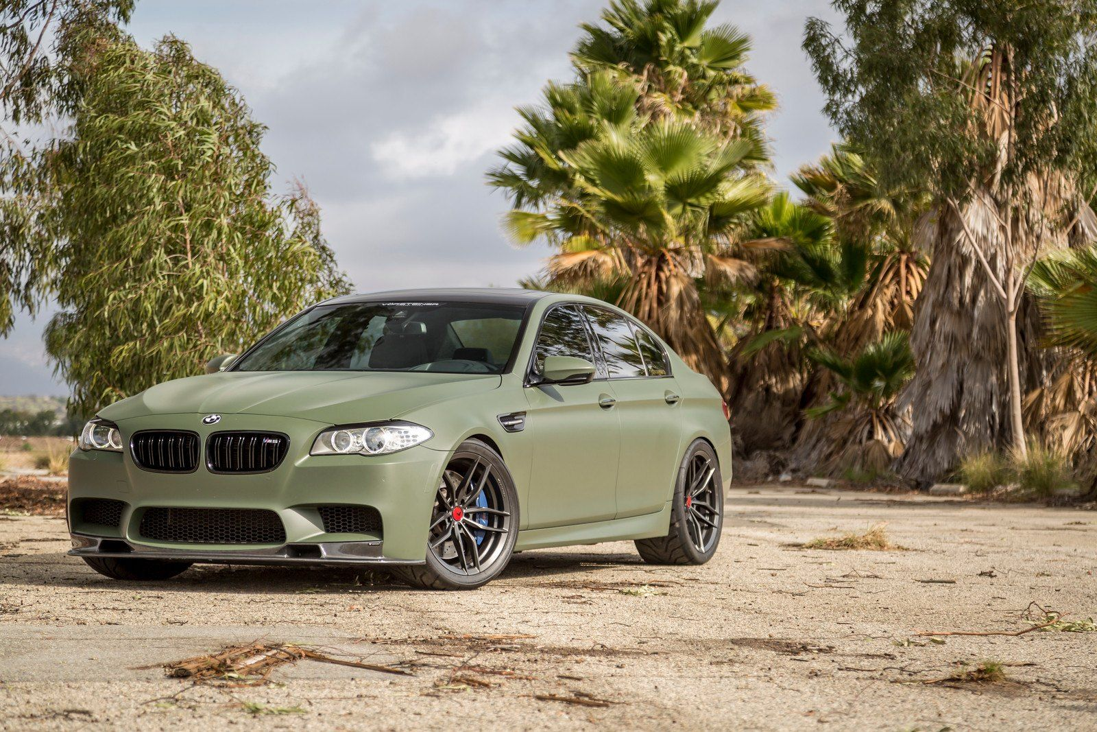 Interesting Matte Green Exterior Color Of Customized Bmw 5 Series