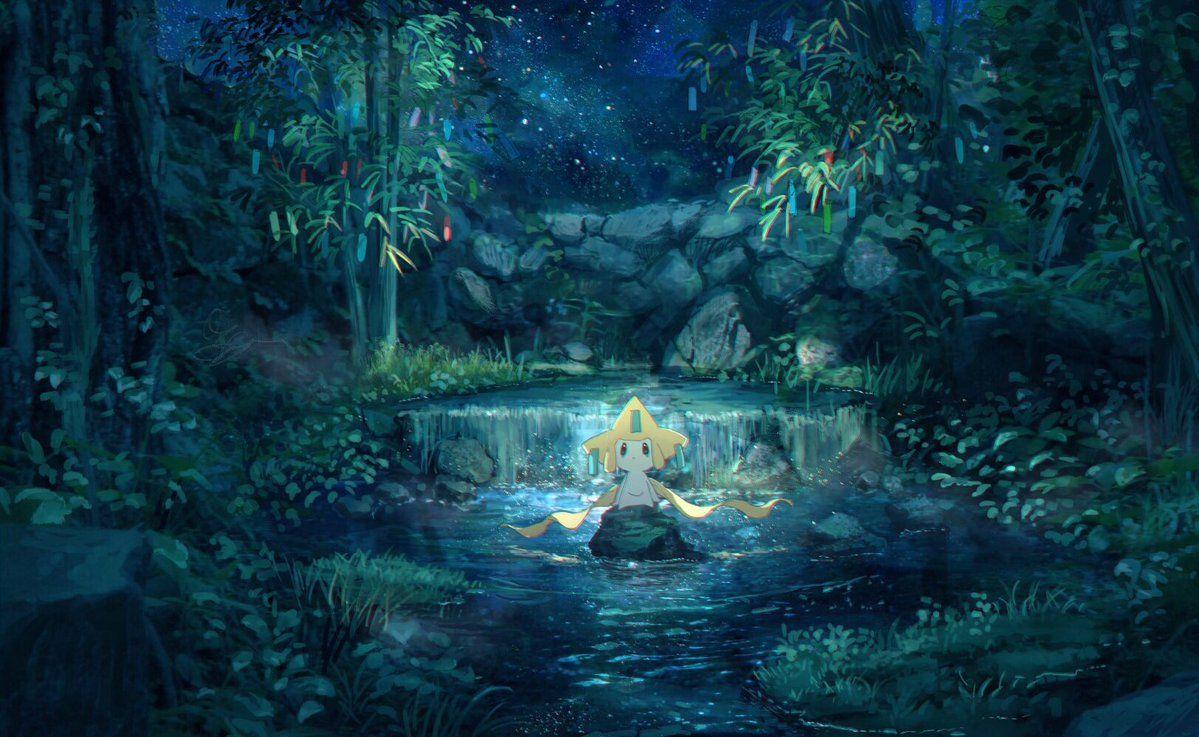 ぴっぴ on Pokemon, Star sky, Scenery