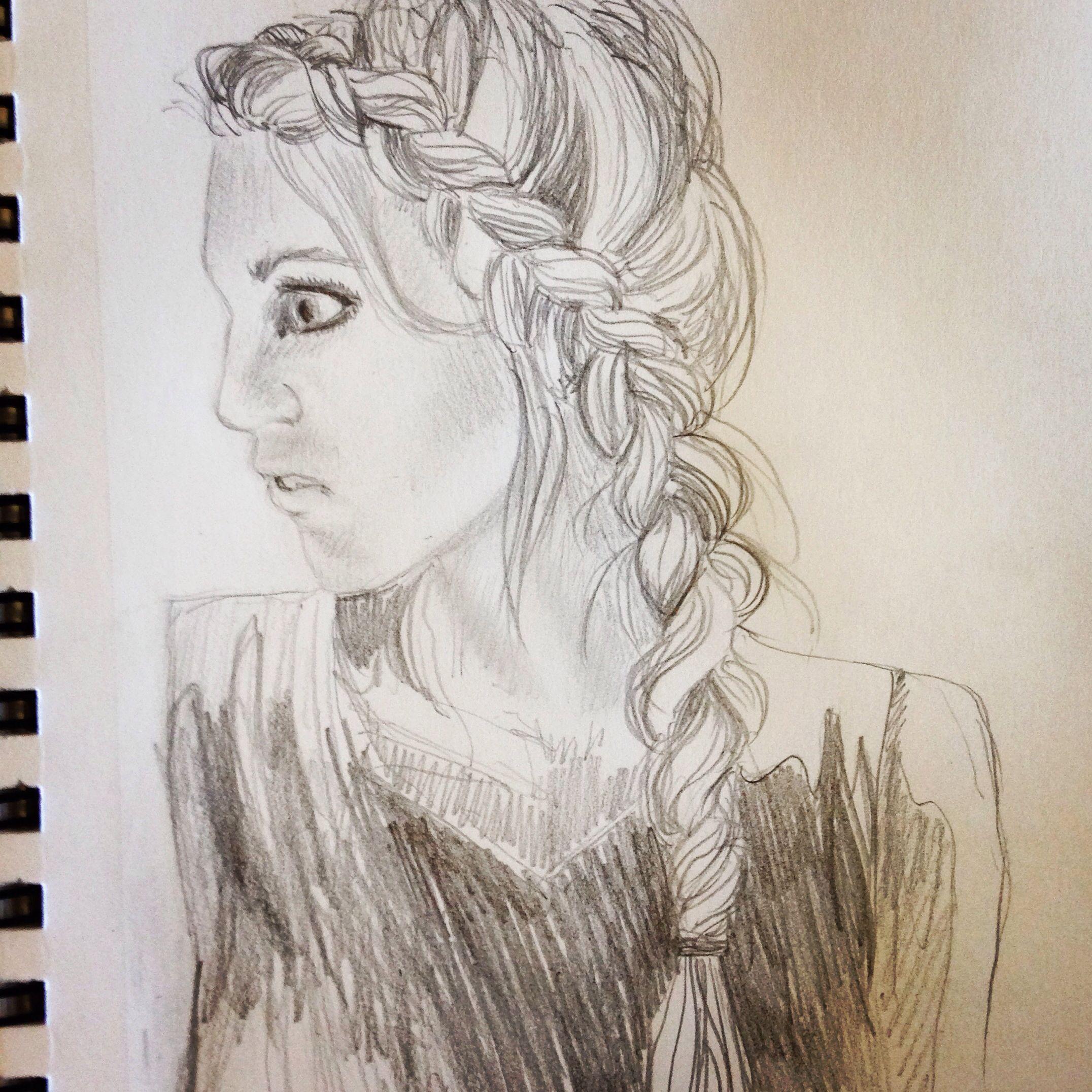 Had the urge to sketch a braid :)