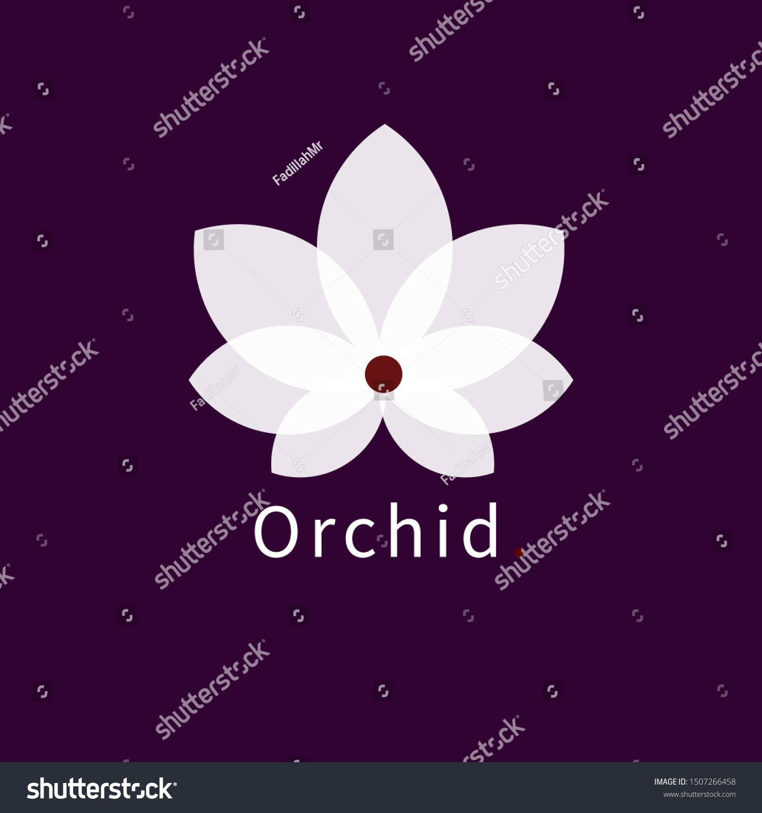 Amazing Beautiful Orchid Flower Logo Orchid Drawing Beautiful Orchids Orchid Flower