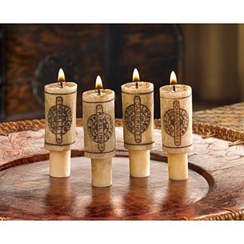 Lot of 6 wine bottle cork stopper candles scented wax candle light lot of 6 wine bottle cork stopper candles scented wax candle light bar decor n mozeypictures Image collections