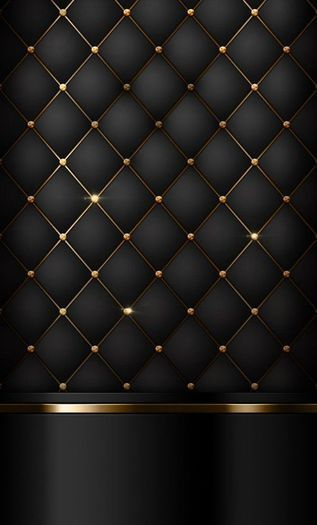 Luxurious Black & Gold Wall Pannel Texture - Full Perm