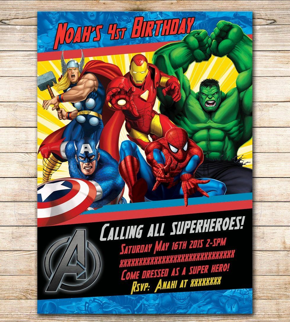 Avengers Invitations Template Free Inspirational Avengers Birthday Invitation Google Search V Avengers Birthday Avengers Party Invitation Superhero Invitations