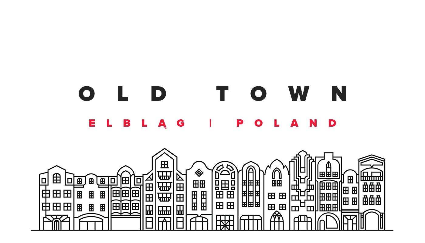 Line illustrations (Old Town - Elbląg) on Behance