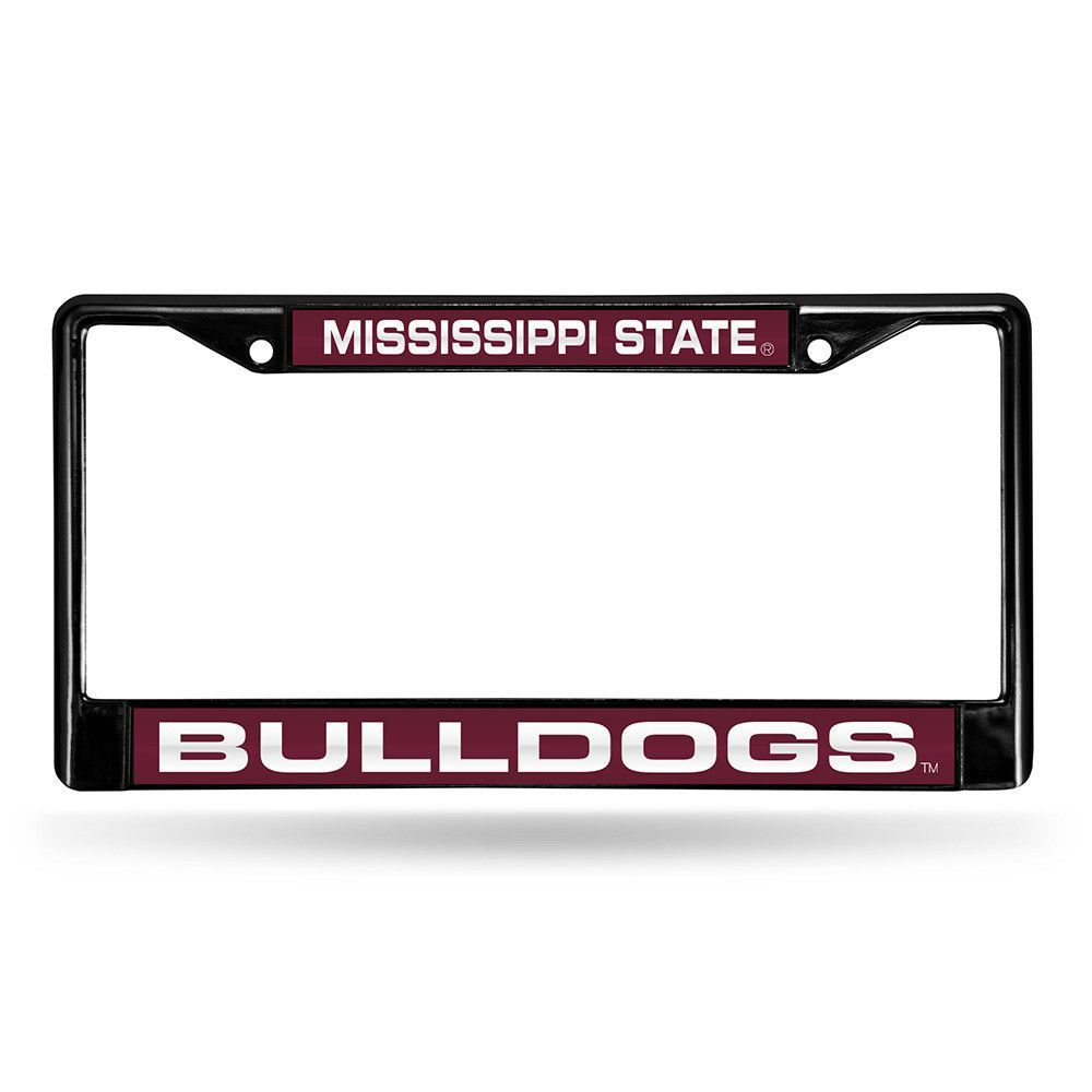 New! Mississippi State Bulldogs Laser Cut Black License Plate Frame #MississippiStateBulldogs
