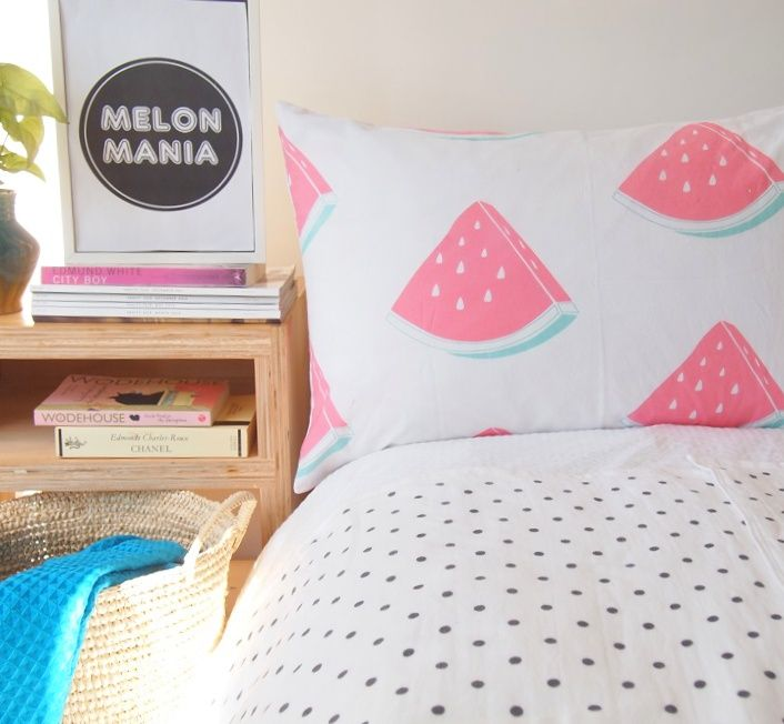 51 Ways To Diy The Bedroom Of Your Kids Dreams: 8 Ways To Refresh Your Home With Watermelon Print
