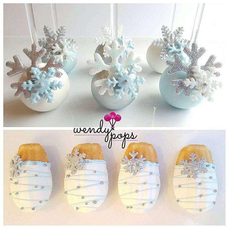 Eis Eis Baby! Diese mit Schneeflocken gefüllten Cake Pops und Madeleines sollten auf jeden Fall …   – Baby cake pops