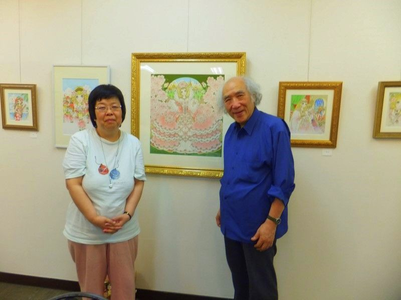 Macoto Takahashi and I at a Ginza Art Gallery. A real gentleman who creates girl and princess world!!