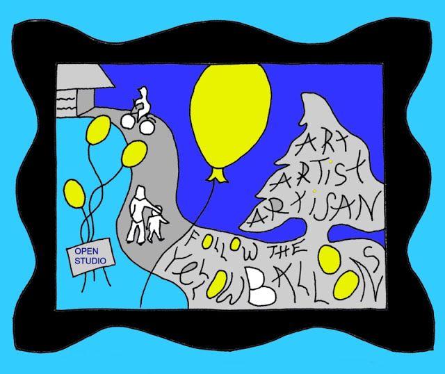 Follow the Yellow Balloons; Open Artist & Artisans Studio Eastern Shore, Highway 207 & Rails to Trail