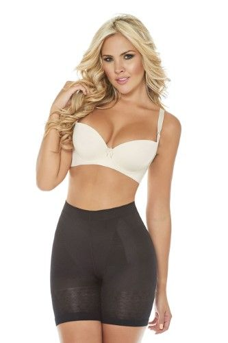 1d234a7cc68 Fajas Colombianas Cocoon Skin Care Mid Waist Buttlifter Shaper Short Panty  Style - Ref 1403-2XL   Black