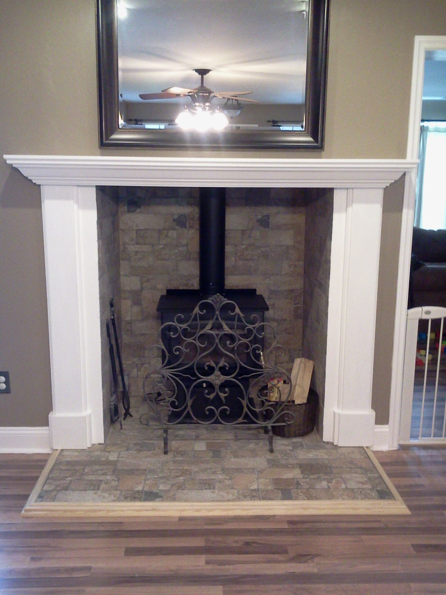 Our new wood stove! | My Style | Pinterest | Mantels, Mantles and ...