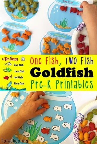 One Fish, Two Fish Goldfish Printables for Preschool