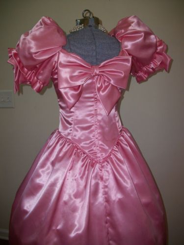 f20704b1214ba 80s pink satin prom dress with bow | Prom/Bridesmaid/Evening Dresses ...