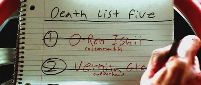 Kill Bill: death list | Kill bill, Movie posters minimalist, Film posters  vintage