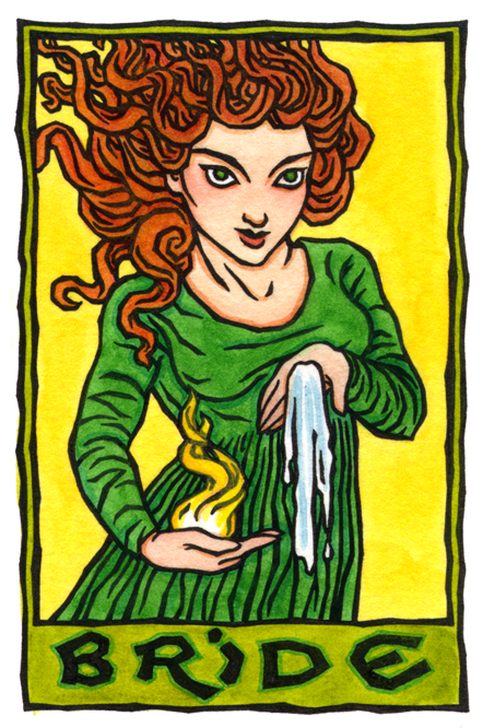 Bride, Triple Celtic Goddess of Fire and Water by Thalia Took