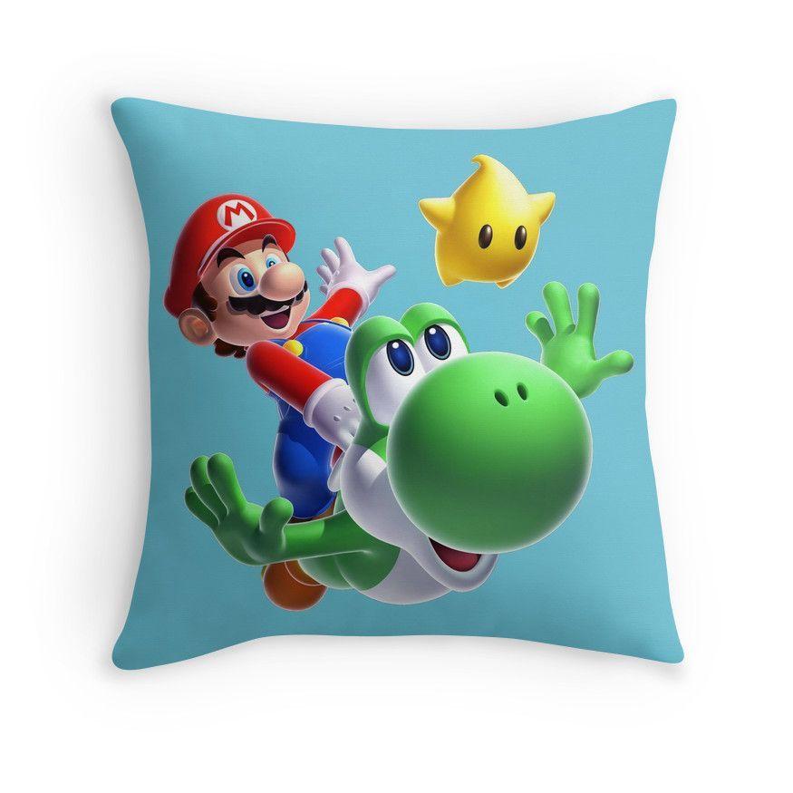 Super Mario Throw Pillows Mario room, Mario yoshi, Wall