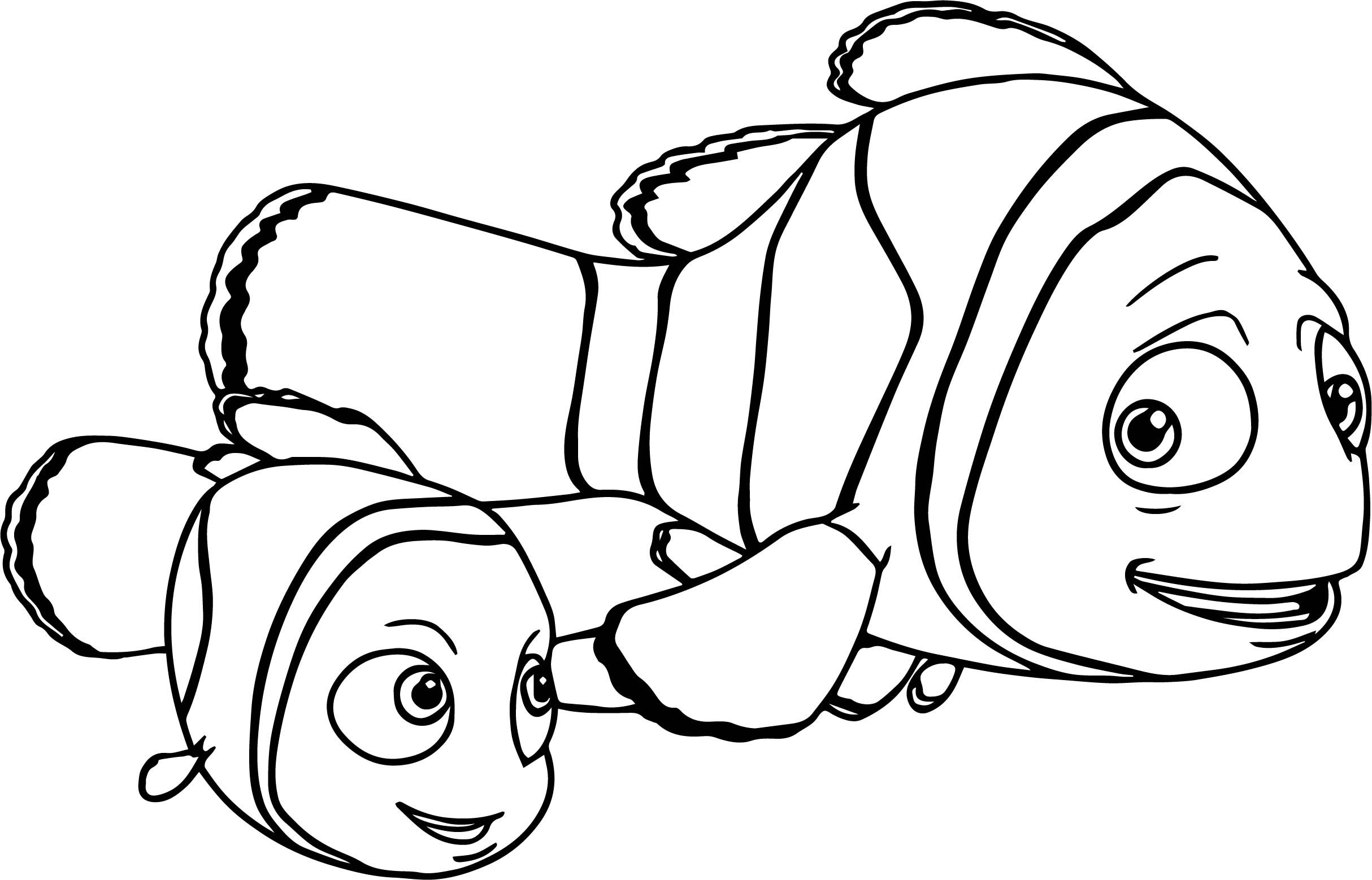 Nice Disney Finding Nemo Marlin Nemo Coloring Pages Finding Nemo